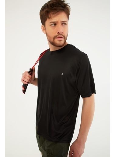 Modaset Logolu Spor T-Shirt  Siyah